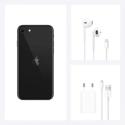 iphone se 2020 con cargador y auriculares