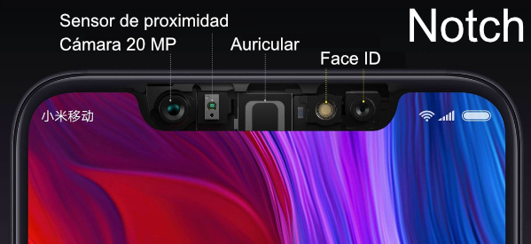 Notch del Xiaomi Mi 8