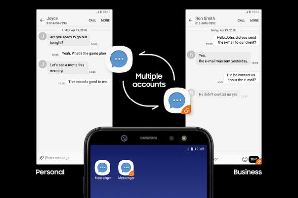 Samsung Galaxy A6 - Cuentas
