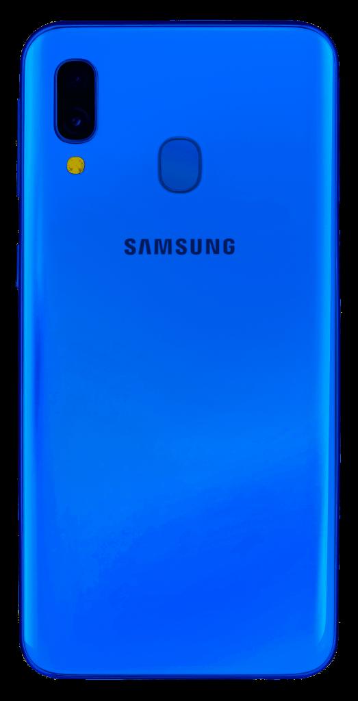 samsung galaxy a40 trasera azul