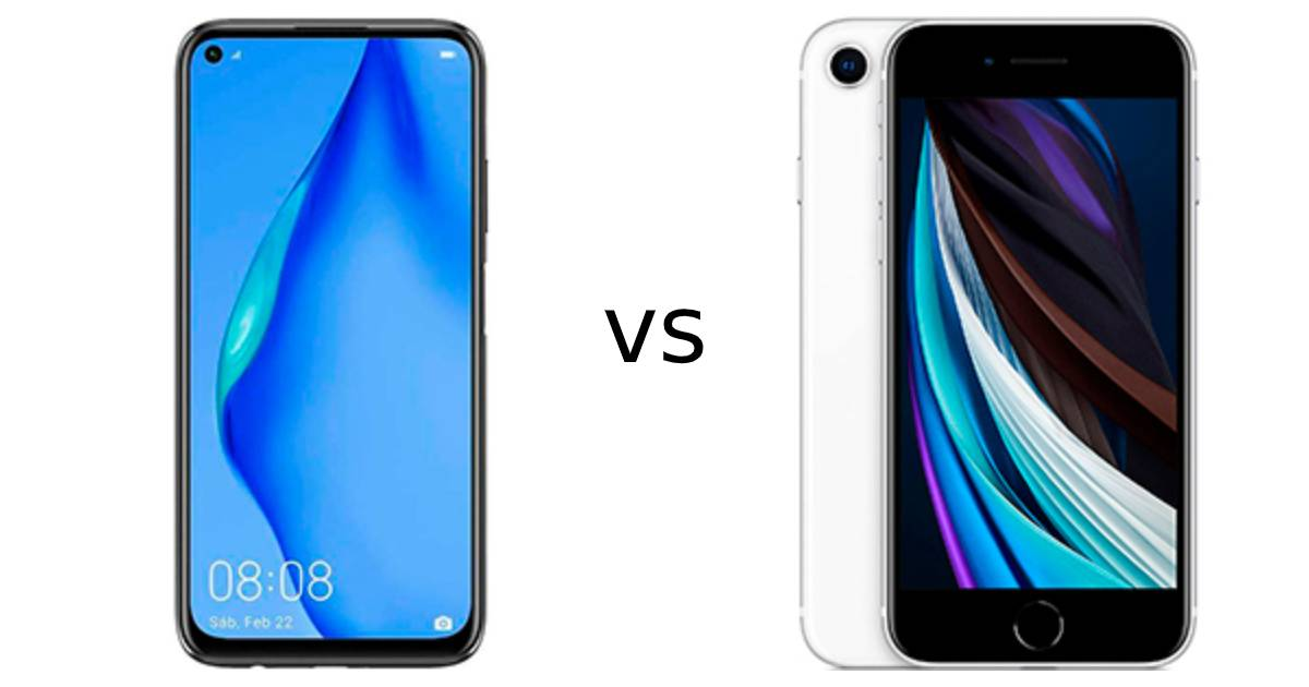 huawei p40 lite vs iphone se 2020